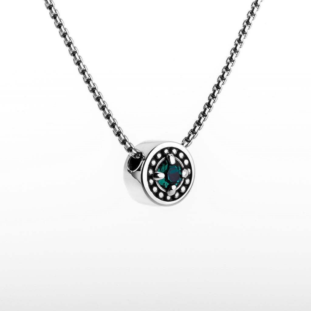 "May Emerald Birthstone Necklace - The Generations ""Petite"""