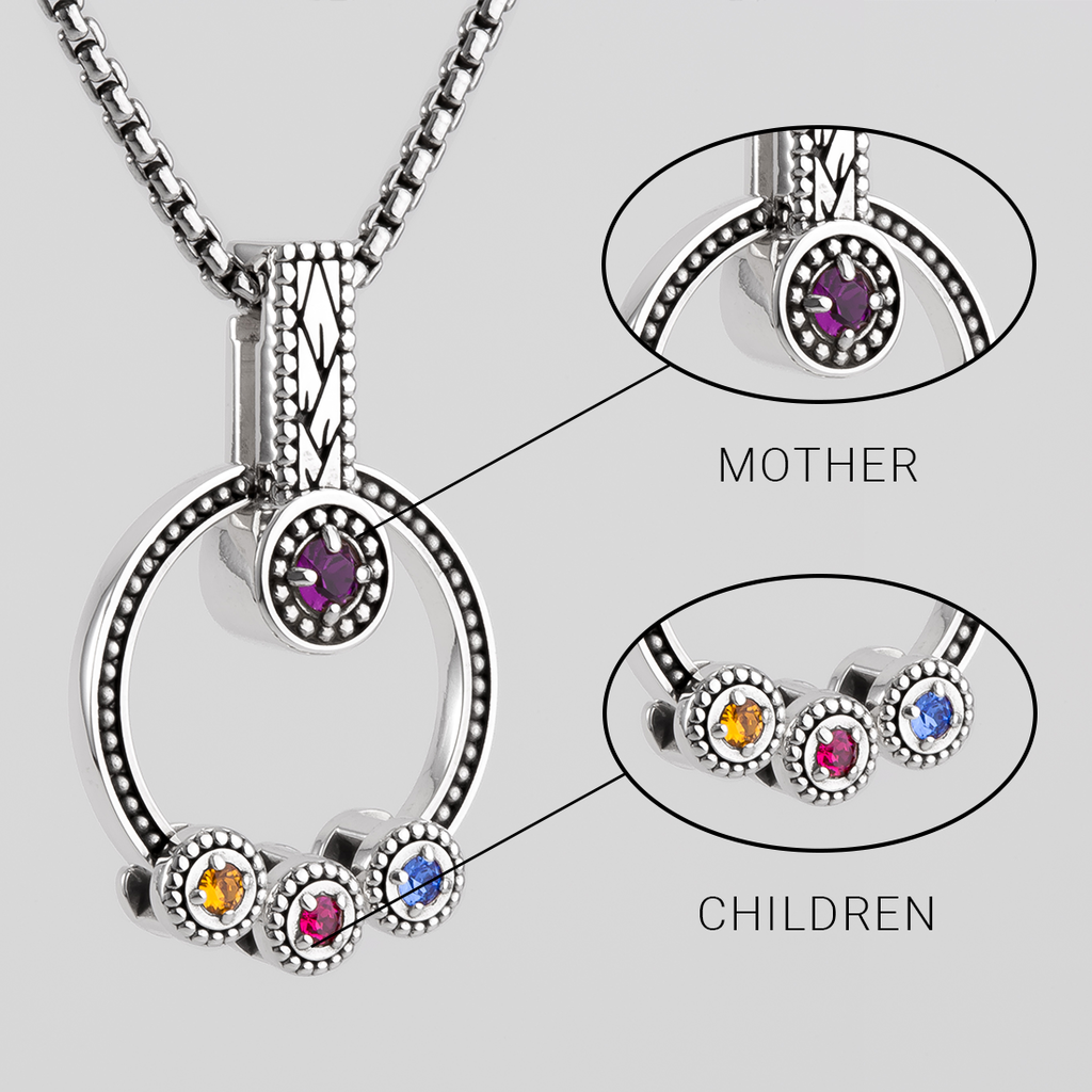 MOTHERS BIRTHSTONE NECKLACE