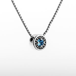 "March Aquamarine Birthstone Necklace - The Generations ""Petite"""