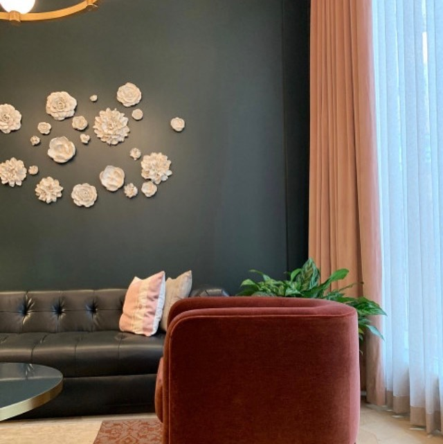 New Hotel based in 1906 Atlanta Landmark featuring MAAP STUDIO Porcelain Flower Ceramic Wall Art