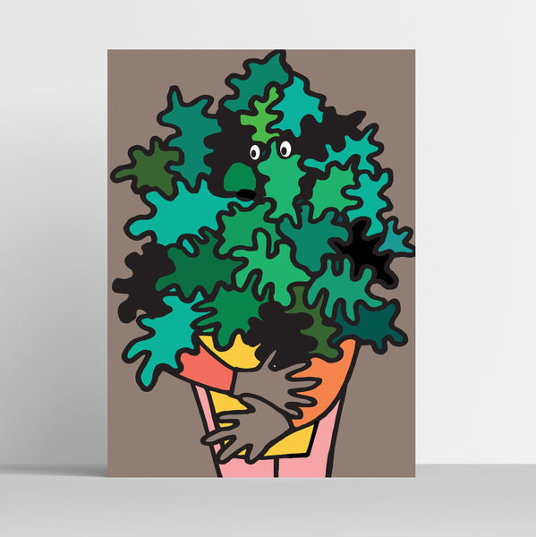 A3 'Cheese Plant' Art Print.
