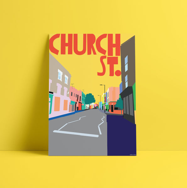 A3 'Church St.' Art Print.