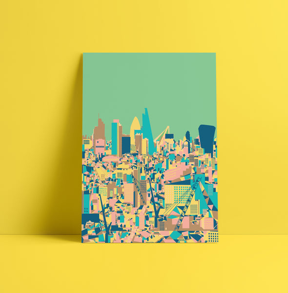 A3 'City Green' Art Print.