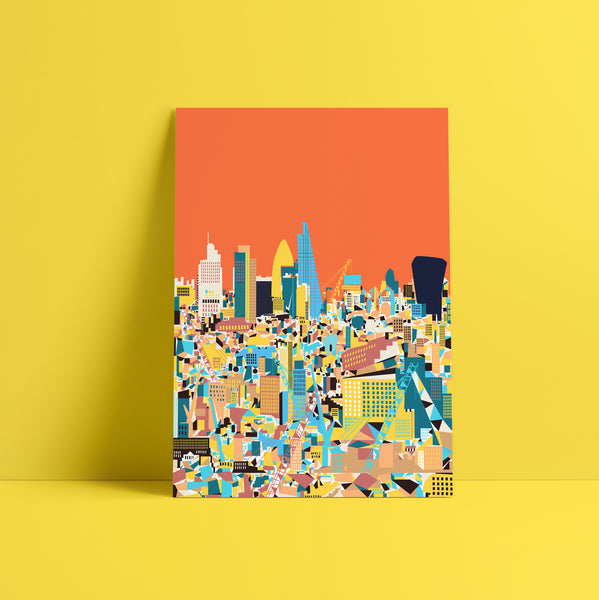A3 'City Orange' Art Print.