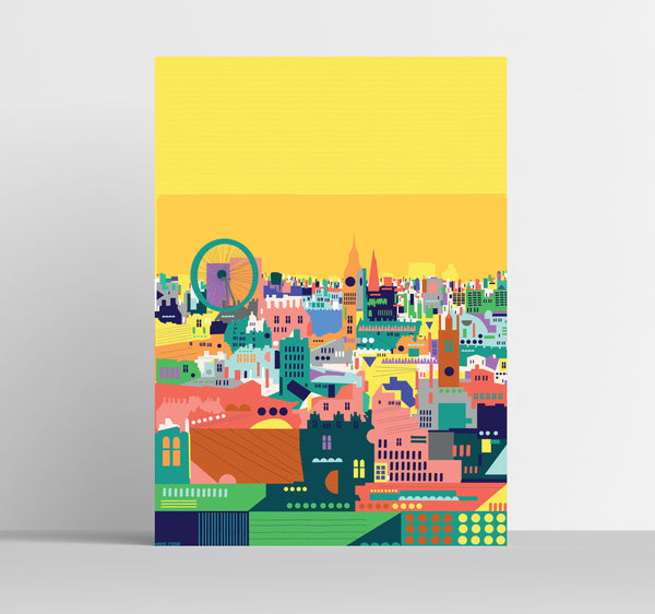 A3 'Colourful London' Art Print.