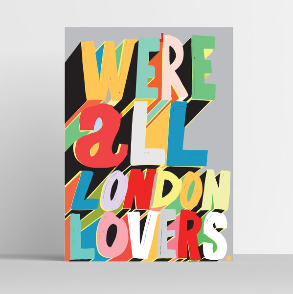 A3 'London Lovers' Art Print.