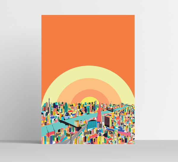 A3 'London Sunrise Colour' Art Print.