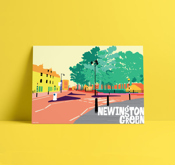 A3 'Newington Green' Art Print.