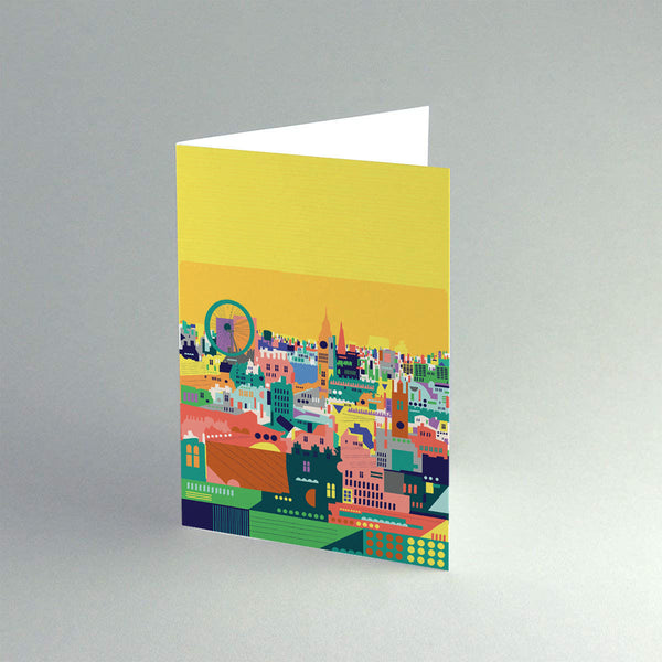 A5 'Colourful London' Card.