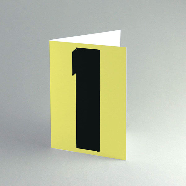 A6 '1 Yellow' Card