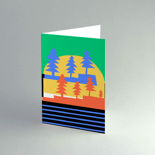 A6 'Winter Blue Forest' Card