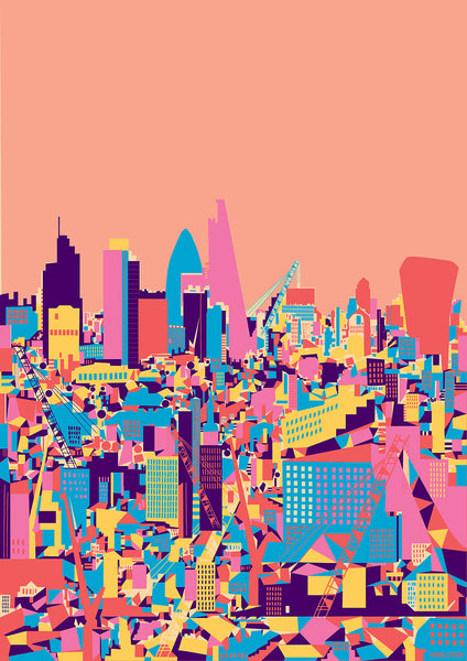 A1 'London City Pink' Art Print