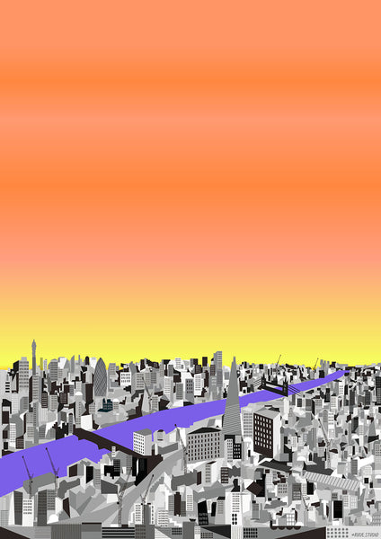 A1 'City Sunrise' Art Print