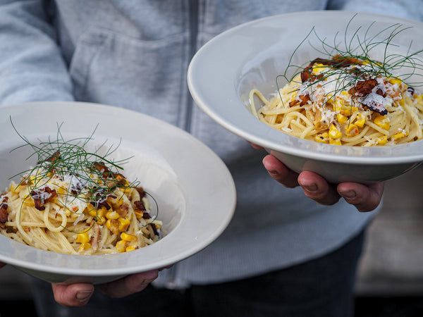 Pasta with Chanterelles and Toasted Corn with Klara Risberg