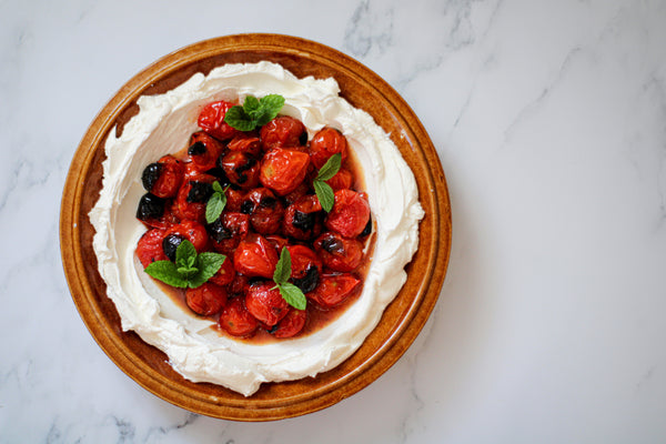 Labneh with Grilled Tomatoes With Klara Risberg