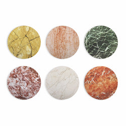 Multicoloured Marble Print Coasters