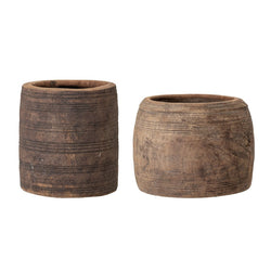 Shirko Recycled Wood Plant Pot