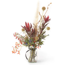 Winter Dried Flower Jar