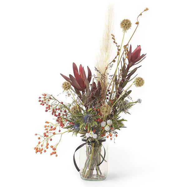 Autumnal Dried Flowers in a Jar