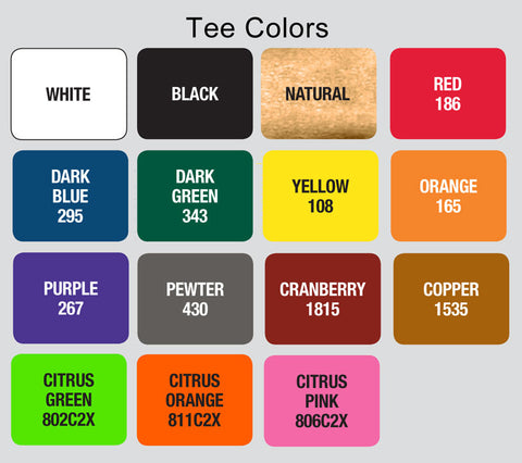 golf tee colors