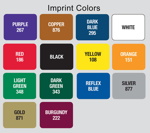 golf item imprint colors