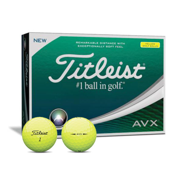 Titleist AVX Yellow - Custom Text Imprint