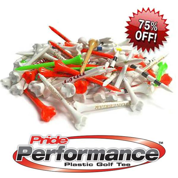 Pride Performance™ Plastic Tees - Misprints/Overruns (Packs of 250 Tees)