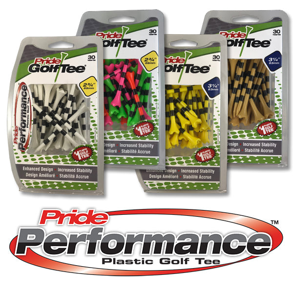 Pride Performance™ Plastic Tees - Striped 30ct Packs