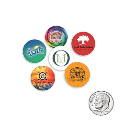 Dime Size Plastic Golf Ball Markers