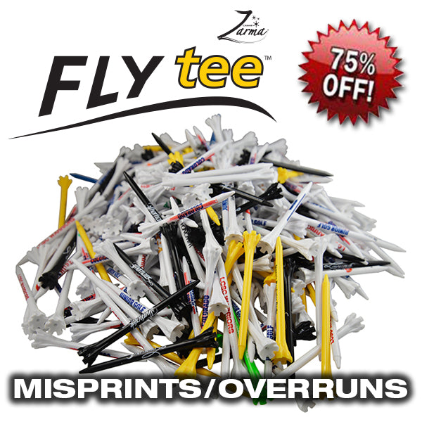Zarma FLYTee™ Plastic Tees - Misprints/Overruns (Packs of 250 Tees)