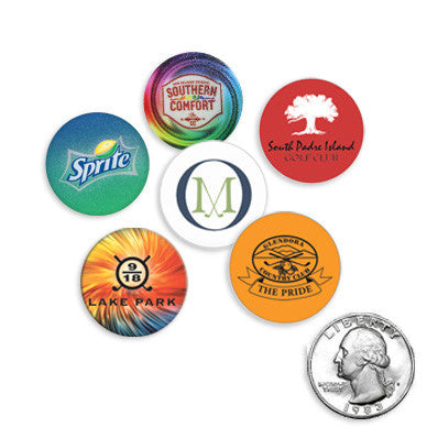 Quarter Size Plastic Golf Ball Markers