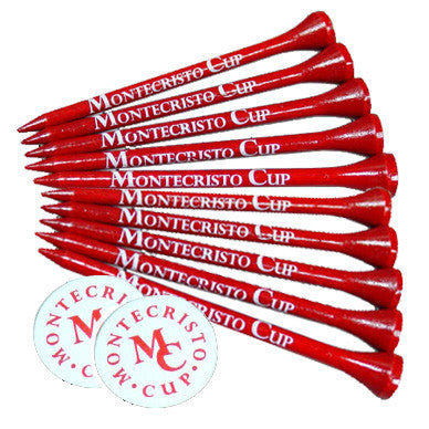 10 Golf Tees 2 Golf Ball Marker Combo Packs
