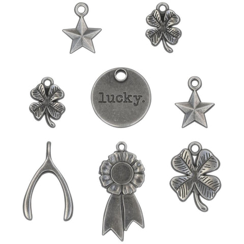 *NEW* Tim Holtz Idea-ology Adornments Lucky 8/pk