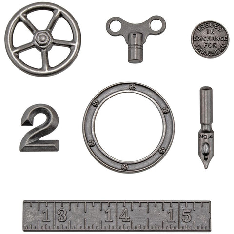 *NEW* Tim Holtz Idea-ology Metal Odds & Ends 7/pk
