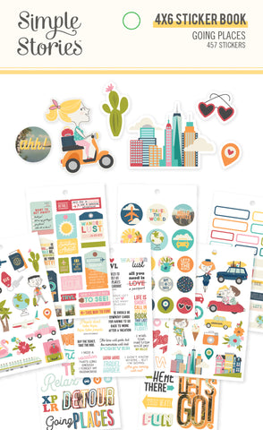 Going Places 4x6 Sticker Book