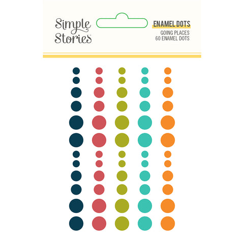 Going Places Enamel Dots