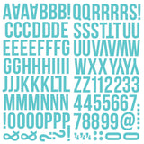Simple Stories Foam Alpha Stickers Teal
