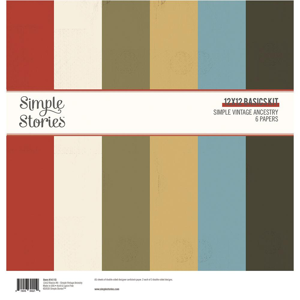 Simple Vintage Ancestry 12x12 Basics Kit