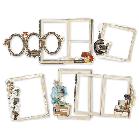 Simple Vintage Ancestry Chipboard Frames