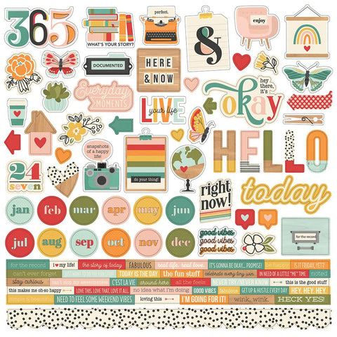 Hello Today Cardstock Sticker