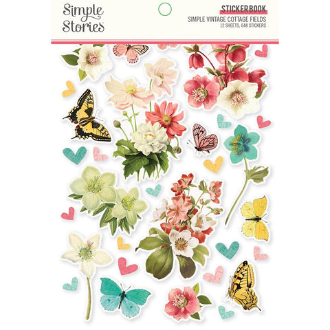 Simple Vintage Cottage Fields - Sticker Book