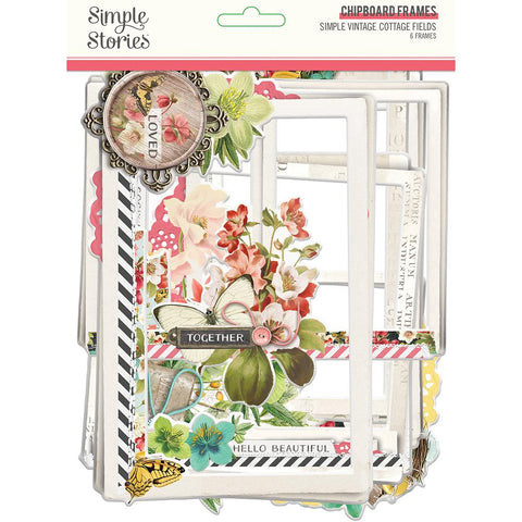 Simple Vintage Cottage Fields - Chipboard Frames