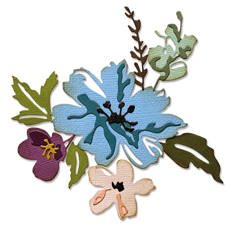 Sizzix Thinlits Dies by Tim Holtz Brushstroke Flowers #2
