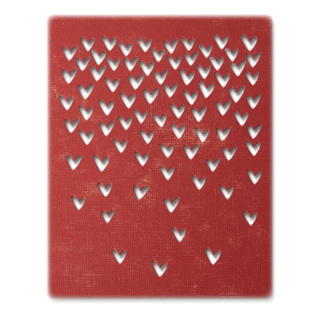 Sizzix Thinlits Dies by Tim Holtz Falling Hearts