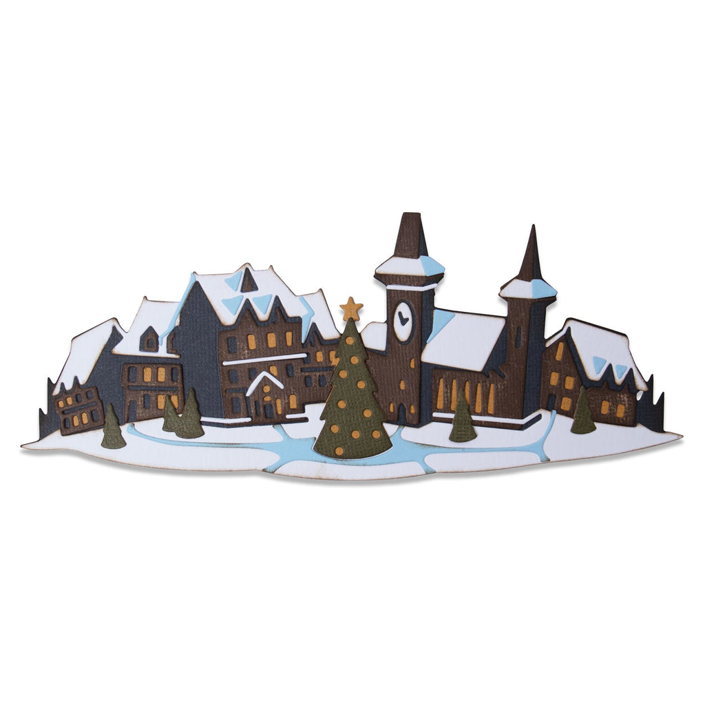 Sizzix Thinlits Dies by Tim Holtz Holiday Village Colorize