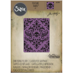 Sizzix Texture Fades A2 by Tim Holtz Skull Damask