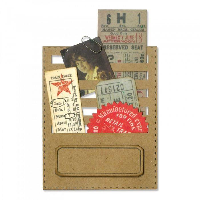 Sizzix Thinlits Dies by Tim Holtz Stitched Slots