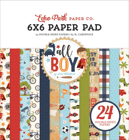 All Boy 6x6 Paper Pad