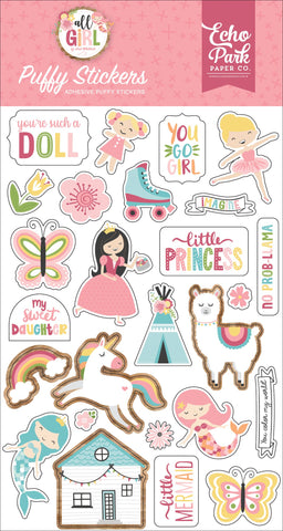 All Girl Puffy Stickers