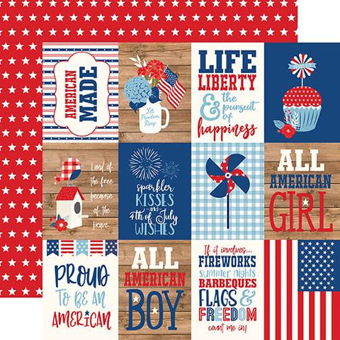 America 3x4 Journaling Cards